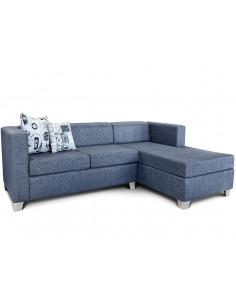 Sillon Chaise Long Oxford Lino Color Azul - Delfina