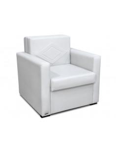 Divan sofá cama 1 cuerpo Ecocuero Color Blanco - Ian