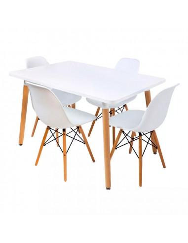 Silla Eames blanca