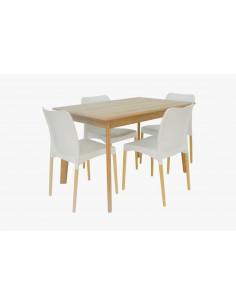 Combo Mesa Comedor Rectangular con 4 sillas