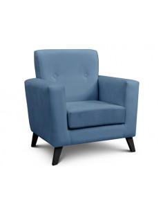 Sillon  1 Cuerpo Pana Azul - Enrique