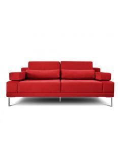 Sillon 2 Cuerpos Pana Color Rojo - Verona